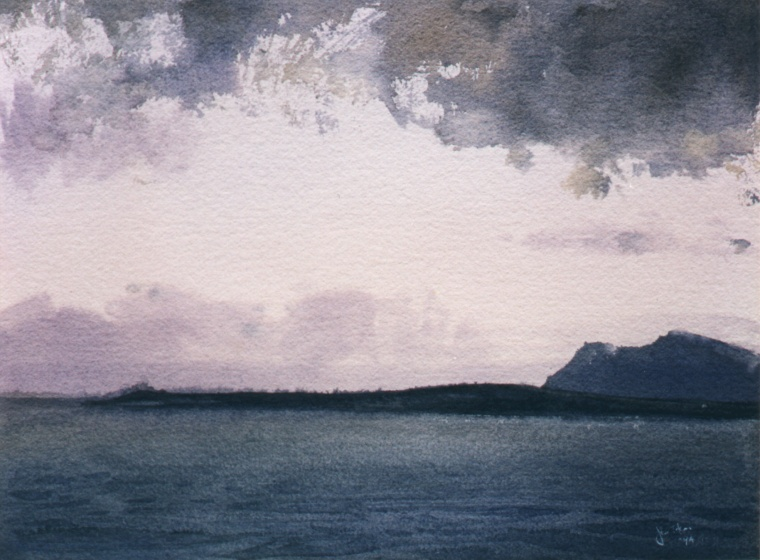 Dawn, Kaneohe Bay, Oahu (134K)